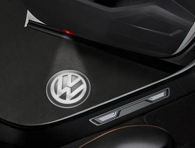 LED-Logoleuchte für Türverkleidung, Schwarz/Weiß