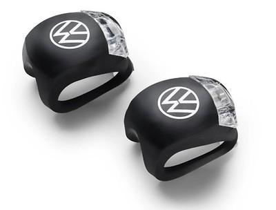 Mini LED-Silikonleuchten 2 Stück, Schwarz