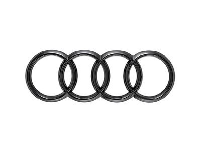 Audi Ringe in Schwarz für die Front