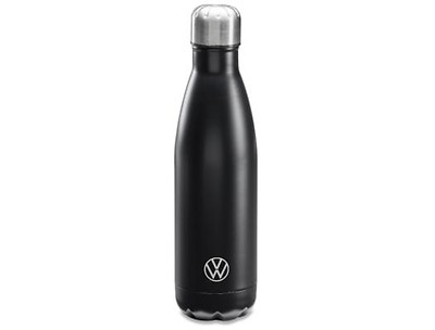 Trinkflasche 500ml, Edelstahl, Schwarz