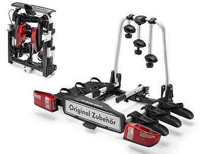 Fahrradträger für die Anhängevorrichtung 3 Fahrräder, klappbar, faltbar, Compact III, Linkslenker