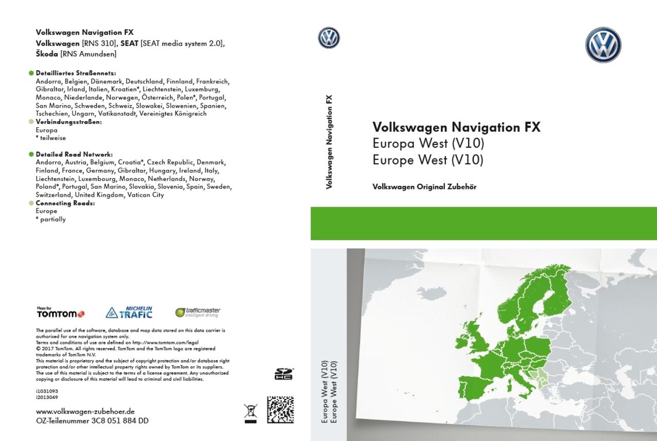 Navigations-SD-Karte FX Europa West (V10)