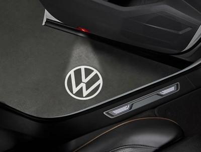 LED-Logoleuchte für Türverkleidung, neues Logo, Schwarz/Weiß