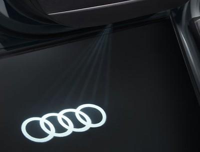 Einstiegs-LED Audi Ringe für Fahrzeuge mit LED-Einstiegsleuchten (schmaler Stecker)