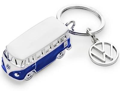 Schlüsselanhänger Blau/Weiß, T1 Design