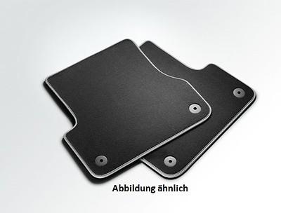 Textilfußmatten Premium für hinten, schwarz/stahlgrau